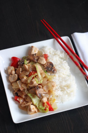 Chicken Stir-Fry and Rice